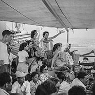 The Aegean 1955.  Deck class aboard the Despina.