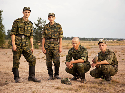 Young Soldiers at Training Ground