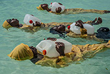 Kijini Primary School students learn to float, swim and perform rescues in the Indian Ocean off of Muyuni, Zanzibar, 2017