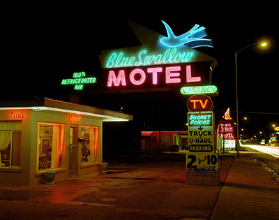 Blue Swallow Motel, Highway 66, Tucumcari, New Mexico; July