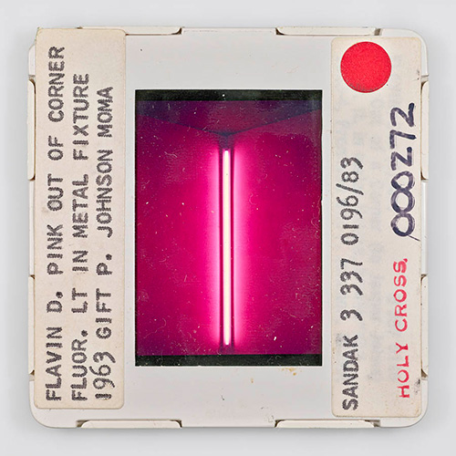 FLAVIN_D_PINK_OUT_OF_CORNER_FLUOR_LT_IN_METAL_FIXTURE_1963_GIFT_P_JOHNSON_MOMA_SANDAK_3_337_0196_83_HOLY_CROSS_000272