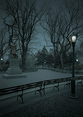 South Mall-Predawn, NYC