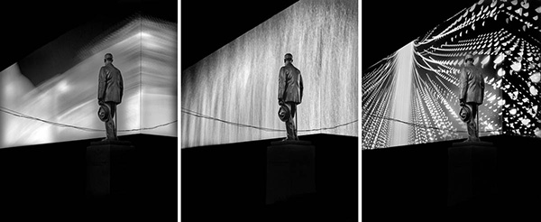 Cohan Variations #1, Times Square, NYC, triptych