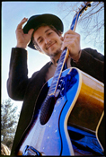 Bob Dylan at his Byrdcliffe Home. Nashville Skyline Album Cover